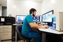 Сканирование гипсовой модели на 3D сканере